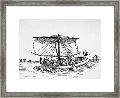 Egyptian Nile Boat Of The Twelfth Framed Print by Everett