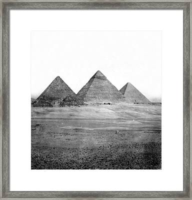 Egyptian Pyramids - C 1901 Framed Print by International  Images