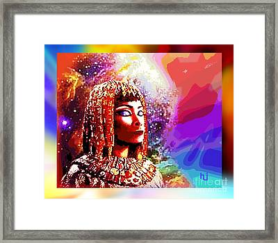 Framed Print featuring the digital art Egyptian Queen by Hartmut Jager