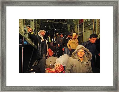 Egyptian Refugees Arrive In Cairo Framed Print by Everett