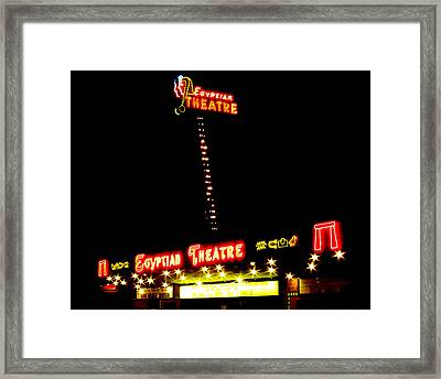 Egyptian Theatre In Coos Bay Oregon Framed Print by Gary Rifkin