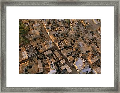 Egyptian Village From The Air Framed Print by Joe & Clair Carnegie / Libyan Soup