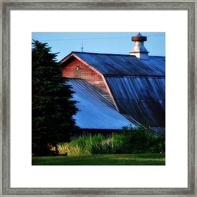 Ehoes Of A Milk Barn Framed Print by Mary Frances