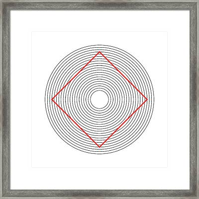 Ehrenstein Illusion, Square In Circles Framed Print by