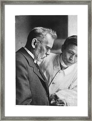 Ehrlich And Hata, Discovered Syphilis Framed Print by Science Source