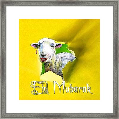 Eid Mubarak Framed Print by Miki De Goodaboom