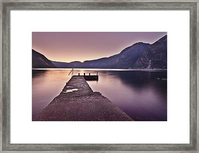 Eidfjord At Sunset Framed Print