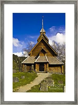 Eidsborg Stave Church  Framed Print by Heiko Koehrer-Wagner