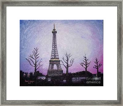 Eiffel At Night Framed Print