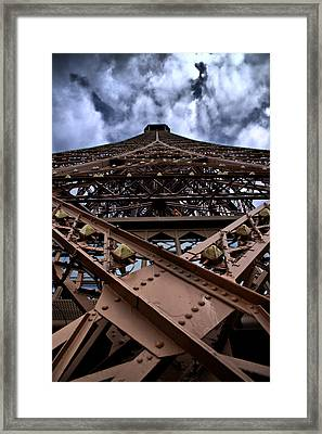 Framed Print featuring the photograph Eiffel In Perspective  by Edward Myers