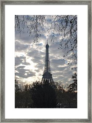 Framed Print featuring the photograph Eiffel In The Morning by Eric Tressler