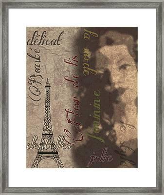 Eiffel Lady Framed Print