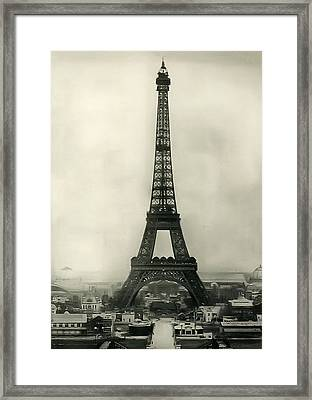 Eiffel Tower 1890 Framed Print by Bill Cannon