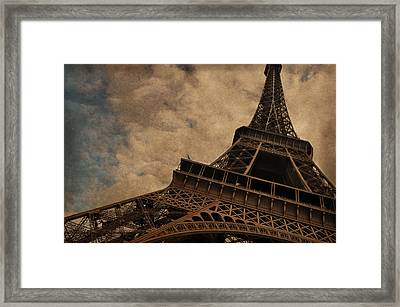 Eiffel Tower 2 Framed Print by Mary Machare