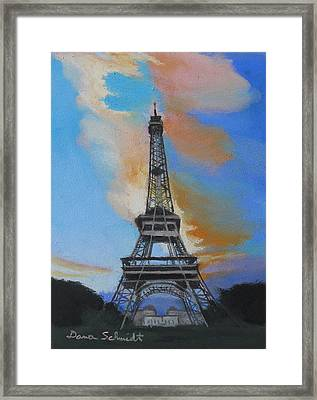 Eiffel Tower At Dusk Framed Print