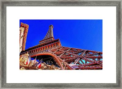 Eiffel Tower At Paris Las Vegas Framed Print