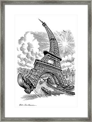 Eiffel Tower, Conceptual Artwork Framed Print by Bill Sanderson