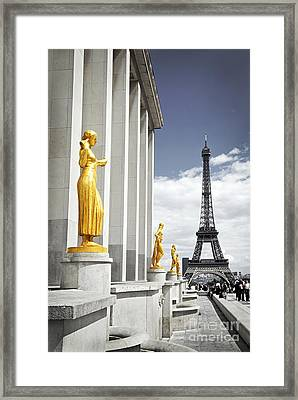 Eiffel Tower From Trocadero Framed Print