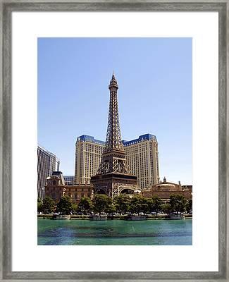 Eiffel Tower Las Vegas Framed Print by James Granberry