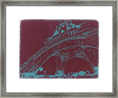 Eiffel Tower Framed Print by Naxart Studio