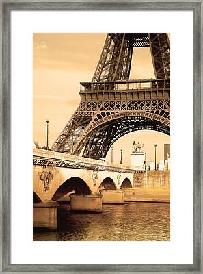 Eiffel Tower, Paris, France Framed Print by Carson Ganci