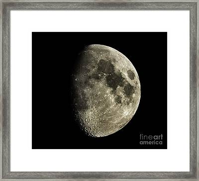 Eight-day-old Moon Framed Print by Raul Gonzalez Perez