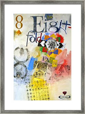 Framed Print featuring the painting Eight Of Spades 30-52 by Cliff Spohn