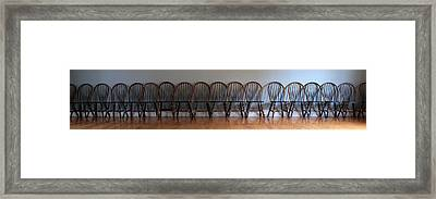 Eighteen Chairs Framed Print by Andrew Fare
