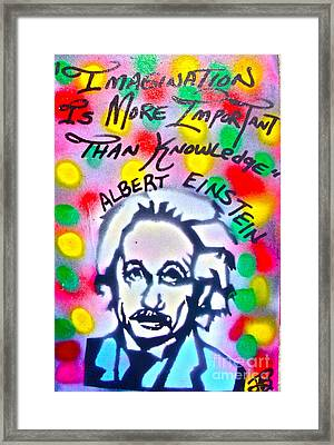 Einstein Imagination Framed Print