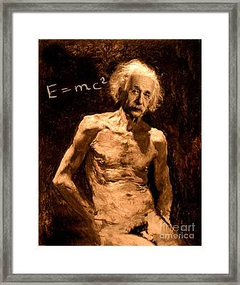 Einstein Relatively Nude Framed Print by Karine Percheron-Daniels