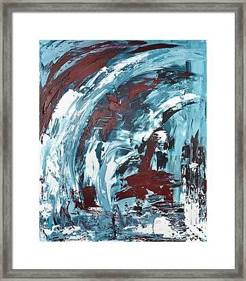 Eiskaltes Rot Framed Print by Thomas Kleiner