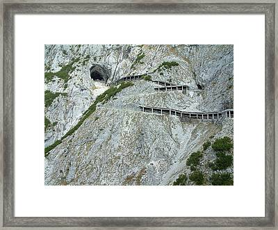 Framed Print featuring the photograph Eisriesenwelt Werfen Austria by Joseph Hendrix