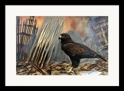 Hawk As War Symbol Framed Prints