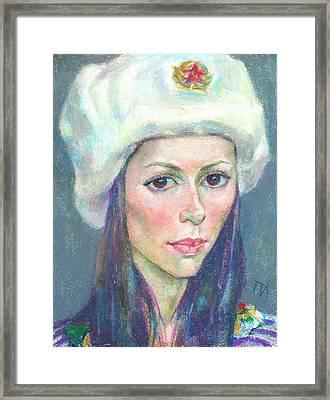 Ekaterina Kindzerskaya Framed Print by Leonid Petrushin