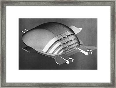 Ekip Flying Vehicle, Artwork Framed Print