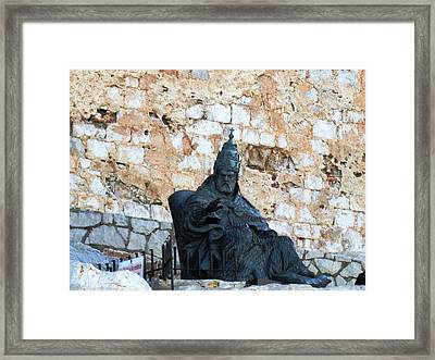 El Cid The Movie Remembered At Peniscola Castle Framed Print by John Shiron