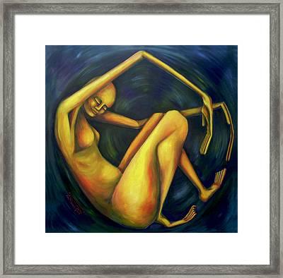 El Comienzo Framed Print by Virginia Palomeque