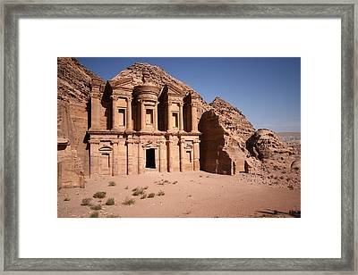 El Deir, The Monastery, Petra, Jordan Framed Print by Joe & Clair Carnegie / Libyan Soup
