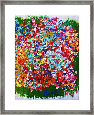 ..el Jardin De Gabo... Framed Print by Adolfo hector Penas alvarado