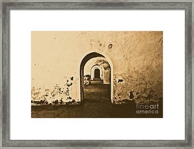 El Morro Fort Barracks Arched Doorways San Juan Puerto Rico Prints Rustic Framed Print by Shawn O'Brien
