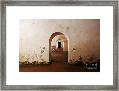El Morro Fort Barracks Arched Doorways San Juan Puerto Rico Prints Framed Print by Shawn O'Brien