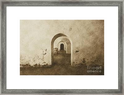 El Morro Fort Barracks Arched Doorways San Juan Puerto Rico Prints Vintage Framed Print by Shawn O'Brien