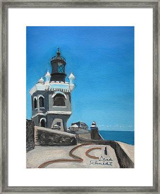 El Morro Fort In Old San Juan Puerto Rico Framed Print