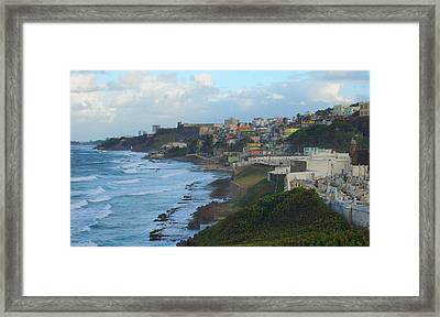 El Morrow With San Juan Seashore Framed Print