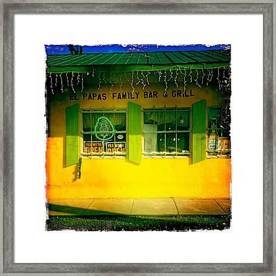 El Papas Family Bar And Grill Framed Print