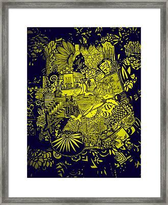 El Pescador Framed Print by MikAn 'sArt