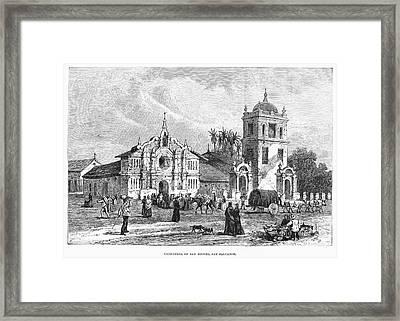 El Salvador: Cathedral Framed Print by Granger