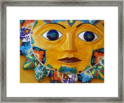 El Sol Framed Print by Kathy Corday