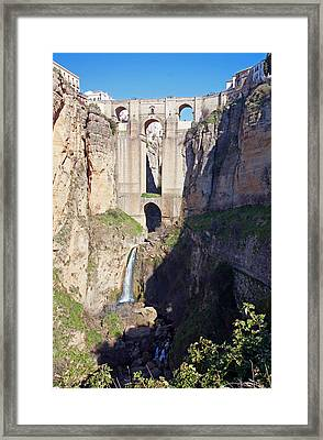 El Tajo Gorge Framed Print by Rod Jones
