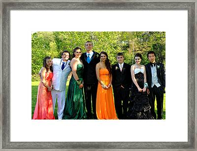 Elaine And Her Friends Framed Print by Casey Riitano